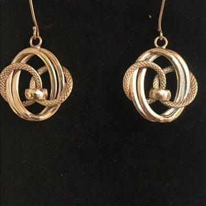 Vintage stamped dangle earrings